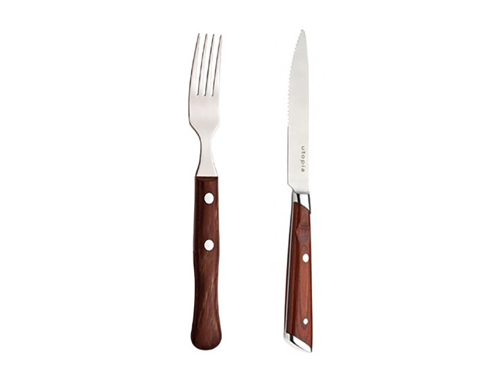 Handled Steak Knives And Forks