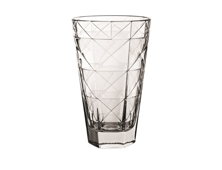 Contemporary Cut Glass Highball & Rocks Glasses