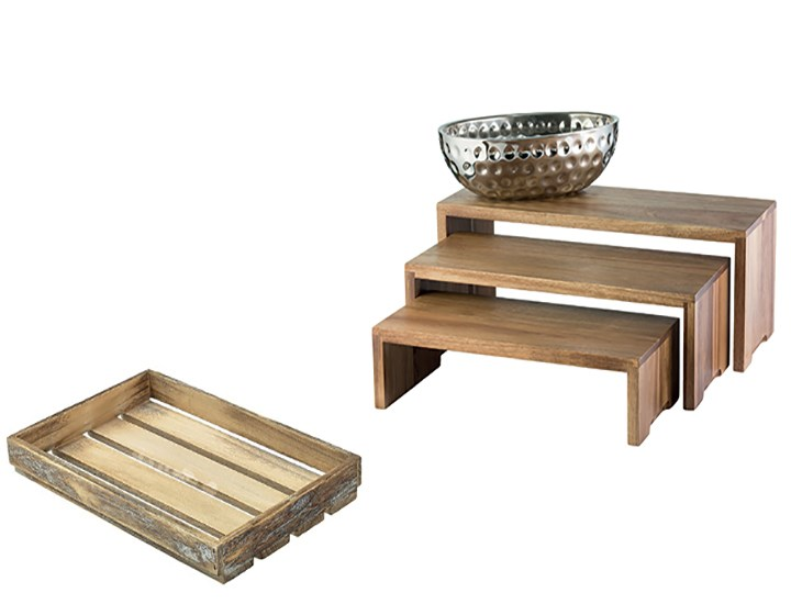 Trays, Tray Stands & Risers