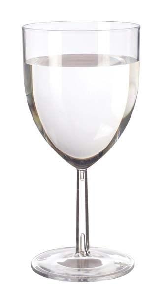 6693fe934c3 Reusable Plastic Wine Glass Clear 30cl (10oz)
