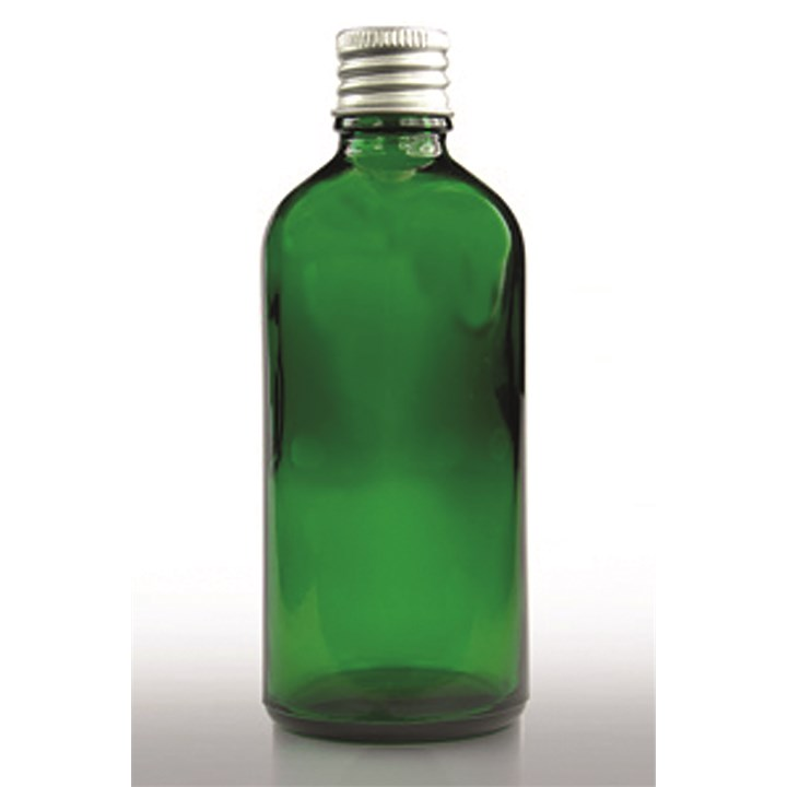 Green Glass Bottle With Aluminium Cap 100ml