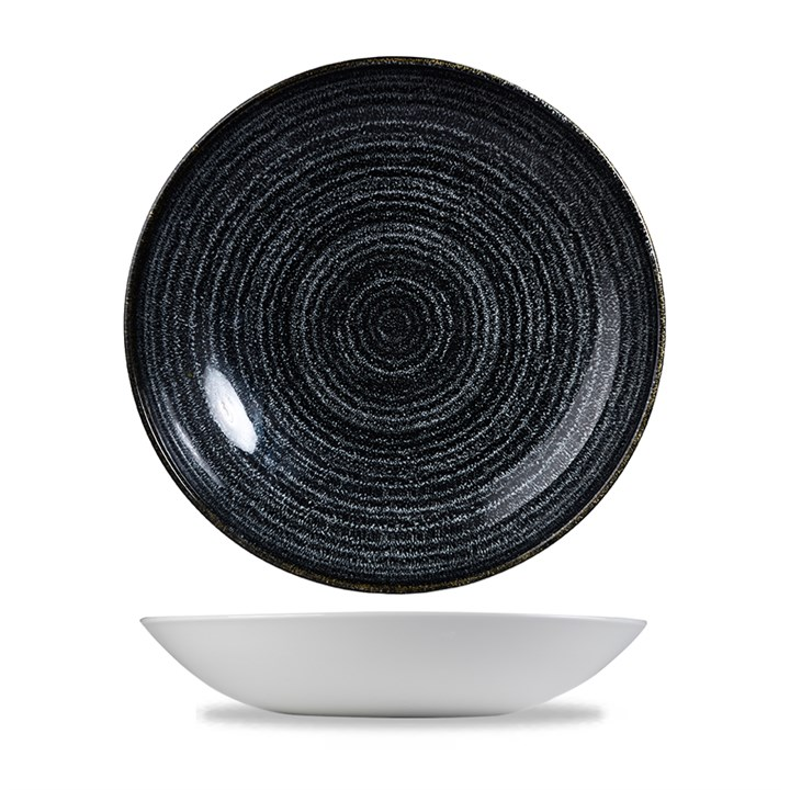 Charcoal Black Studio Prints Coupe Bowl 25cm (9.8