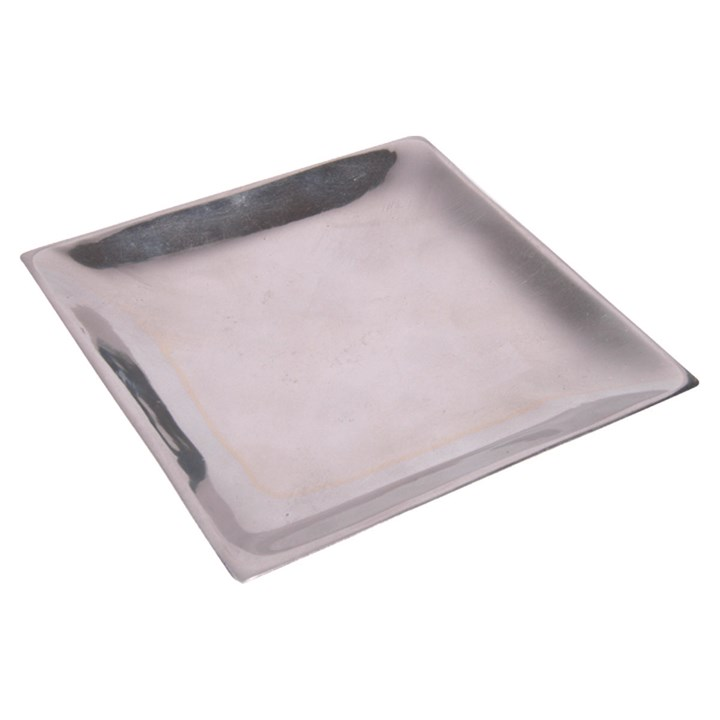 Silver Pillar Candle Plate 1.5cm x 14.3cm