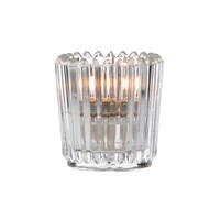 Clear Ribbed Votive Holder