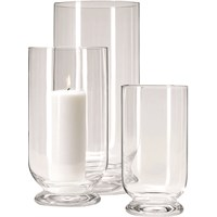 Hurricane Glass Pillar Candle Holder 23cm