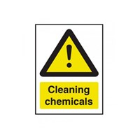 Sign - Warning Cleaning Chemicals 200 x 150mm