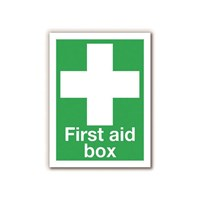 First Aid Box Self Adhesive Sign