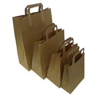 22x10x25cm Brown Take Away Carrier Bag
