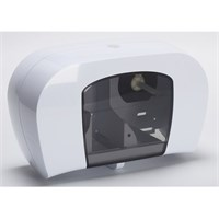 Dispenser Compact Double White Plastic for 63936