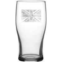 Tulip Beer Glass 57cl 20oz CE Toughened Union Jack