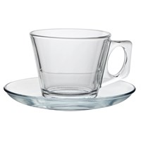 Tea Cappucino Glass and Saucer 20cl 7oz
