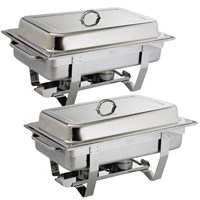 Twin Pack Stainless Steel Chafing Dish 8.5L