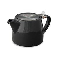 Black Teapot With Metal Lid 51cl (18oz)