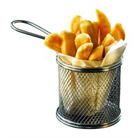 Round Stainless Steel Frying Basket 9.3x9cm