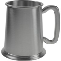 Plain Square Handled Pewter Tankard 57cl (20oz)