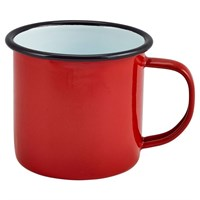 Enamelware Mug Red 8cm   36cl 12.5oz