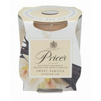 Candle Jar Scented Clear Vanilla 25hrs