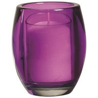 Purple Oval Relight Candle Holder