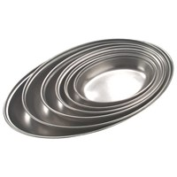 Stainless Steel Oval Dish 17.5cm  (7'')