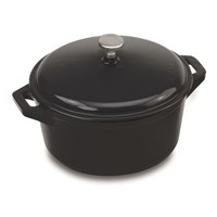 Cast Iron Round Casserote And Cover 18cm (7'')