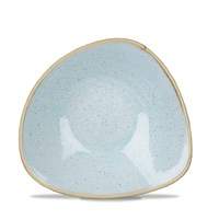 "Duck Egg Stonecast Triangular Bowl 18.5cm (7.3"")"