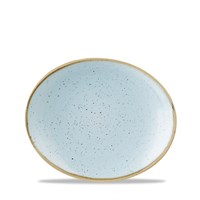 Duck Egg Stonecast Oval Coupe Plate 19.2cm (7.5'')