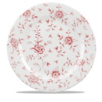 Cranberry Rose Chintz Plate 30.5cm (12'')