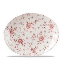 "Cranberry Rose Chintz Plate 31.7cm (12.5"")"