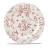 Cranberry Toile Plate 30.5cm (12'')