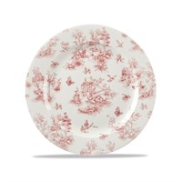 Cranberry Toile Plate 21cm (8.26'')