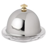 Stainless Steel Round Butter Dish 9cm (3.5'')