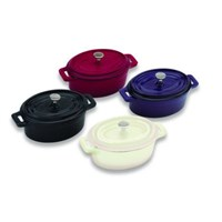 Mini Grey Oval Cocotte And Cover 1.15L