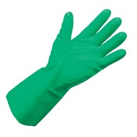 Gloves Rubber Gauntlet Green Nitrex FlockLined
