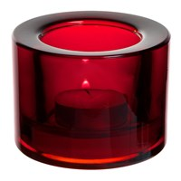 Nightlight Holder Chunky Red 8.2 x 6cm H