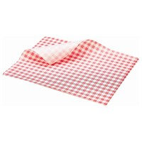 Greaseproof Paper Gingham Print Red 25x20cm