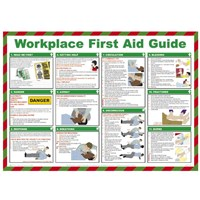 Sign Workplace First Aid Guide 42x59cm