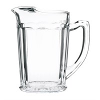 Ice Lipped Panelled Glass Jug 1.1L