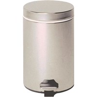 Chrom Pedal Bin With Galvanised Liner 12L
