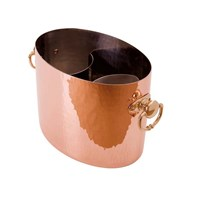 Hammered Finish Copper Champagne Cooler