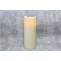 Pillar Canle Ivory Wax Finish 3x9 Remote Recharg