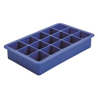 Square Ice Mould Silicone 15 Cavity Blue