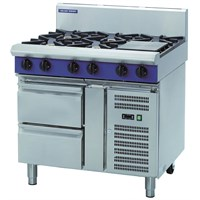 Blue Seal Evolution Cooktop Refrigerated Base 8 Burner