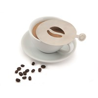 Genware S/S Coffee Stencil Bean Design