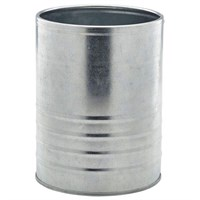 Galvanised Steel Can 11cm X 14.5cm