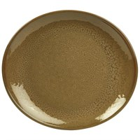 Terra Stoneware Rustic Brown Oval Plate 25x22cm