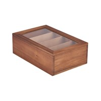 Acacia Wood Tea Box 30x20x10cm