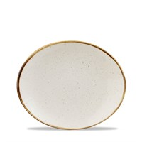 Oval Coupe Plate 19.7cm White Stonecast