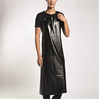 Apron Waterproof Acid Stain Repellency Black 80cm