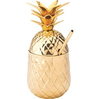 Pineapple Cocktail Drink Gold With Straw 20oz 57cl