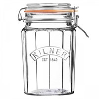 Kilner Faceted Clip Top Jar 0.95L